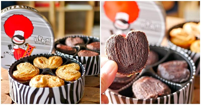 台中蝴蝶酥 紅髮斑斑手工餅乾 逢甲夜市伴手禮推薦~香酥原味VS濃厚巧克力,當日現烤好涮嘴