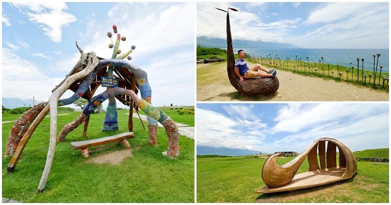 台東海線景點 加路蘭海岸遊憩區~台11線無敵海景,漂流木裝置藝術好好拍