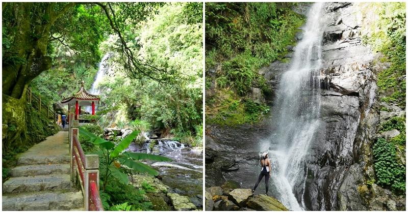 宜蘭礁溪玩水景點 五峰旗瀑布~抹茶山前哨站,輕鬆爬山親子戲水,清幽好地方