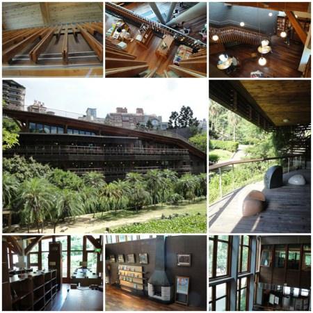 台北市立圖書館 北投分館~與藍天綠樹融合為一體