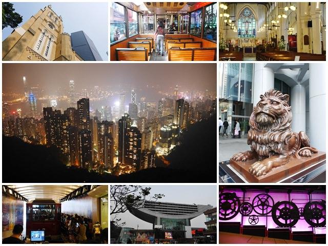 香港景點 山頂纜車/凌霄閣摩天台/聖約翰座堂 太平山夢幻夜景~阿一一香港自助之旅