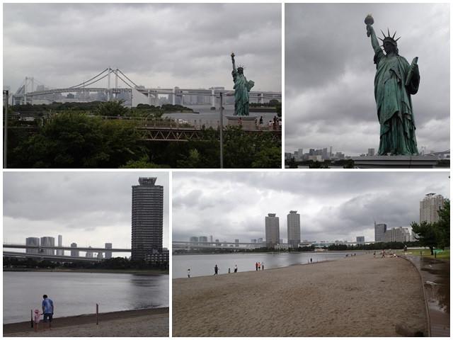 東京景點御台場海濱公園自由女神像彩虹橋水上巴士page