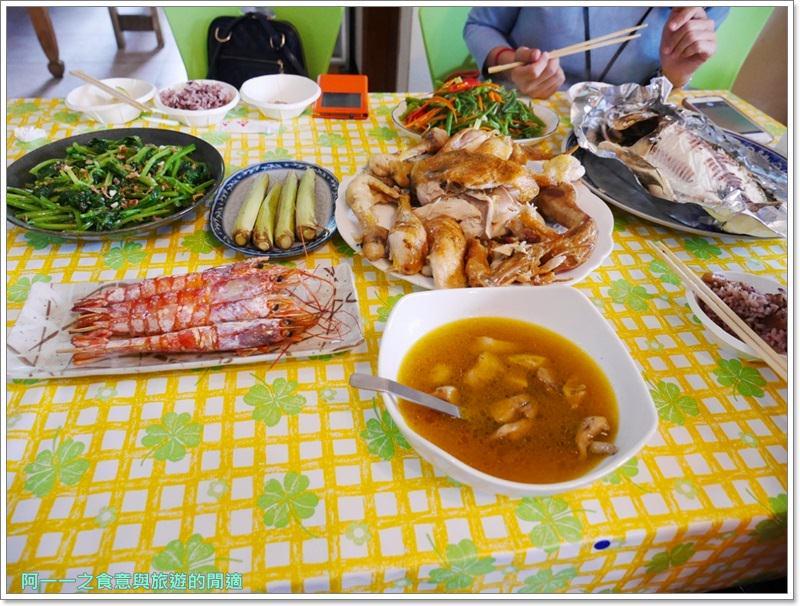 花蓮無菜單料理.美食.兩津農莊食堂.烤魚.桶仔雞.image015